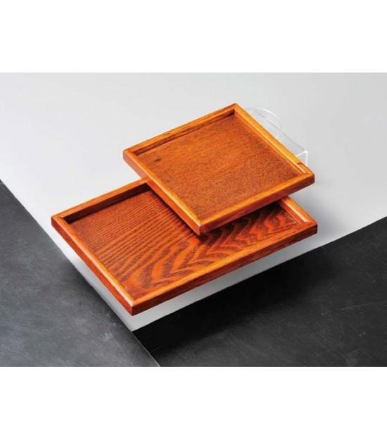 Vassoio in legno marrone quadrato Kaku Bon